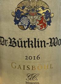 Dr. Burklin-Wolf Ruppertsberger Gaisböhl GG Rieslingtext