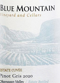 Blue Mountain Estate Cuvée Pinot Gristext