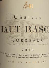 Château Haut Basclatext