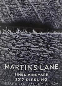 Martin's Lane Simes Vineyard Rieslingtext