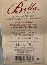 Bella Wines Chardonnay Ancestrale Sparkling Winetext