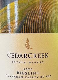 CedarCreek Estate Rieslingtext