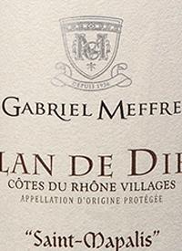 Gabriel Meffre Plan de Dieu Côtes du Rhône Villages Saint Mapalistext
