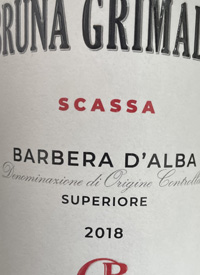 Bruna Grimaldi Scassa Barbera d'Alba Superioretext