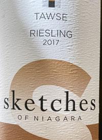 Tawse Sketches of Niagara Rieslingtext